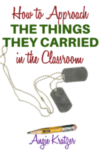 Tim O'Brien's The Things They Carried lesson plans