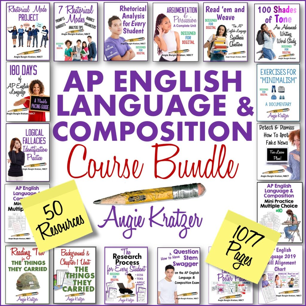 ap english language and composition resources bundle