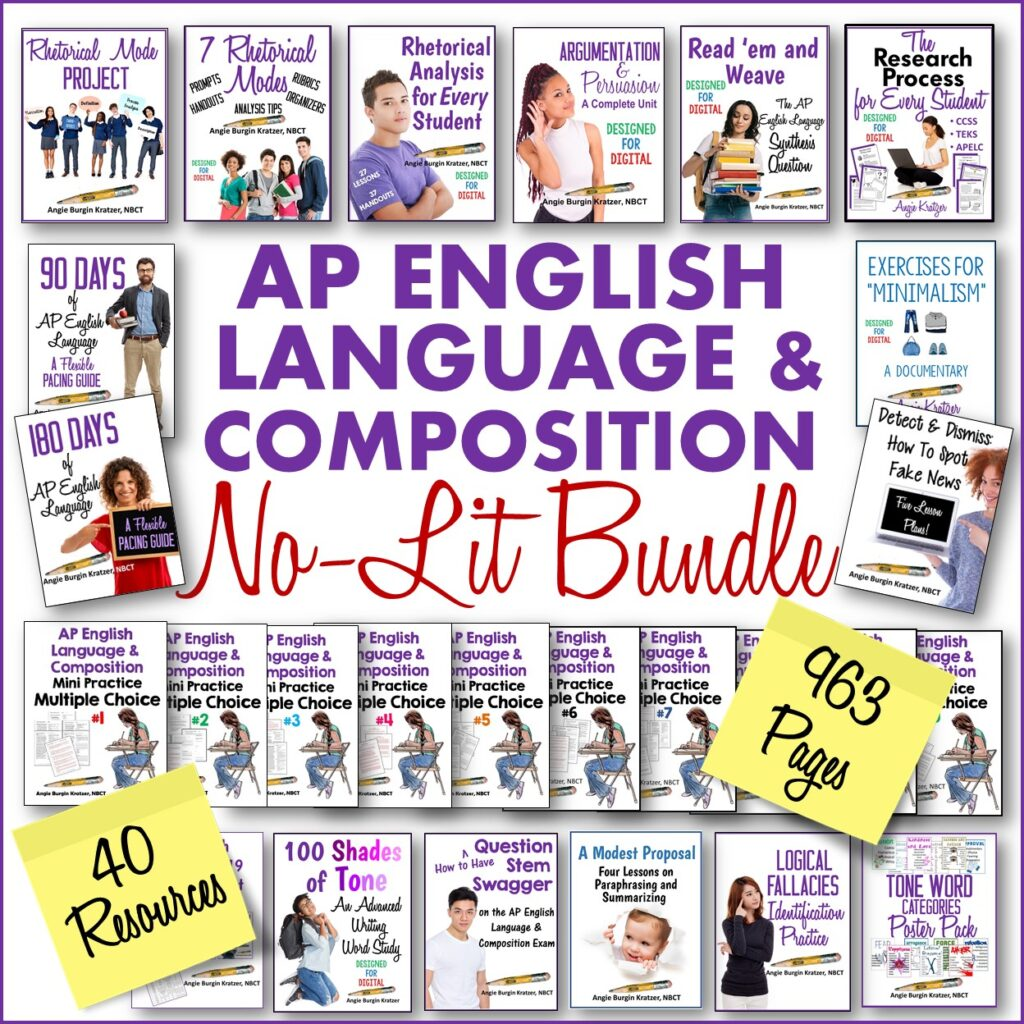 ap english language resource bundle no fiction