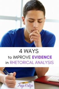 BOY THINKING OF RHETORICAL ANALYSIS EVIDENCE
