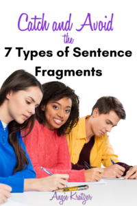 teenagers editing for sentence fragments