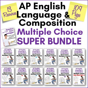 AP English Language & composition multiple choice exam super bundle