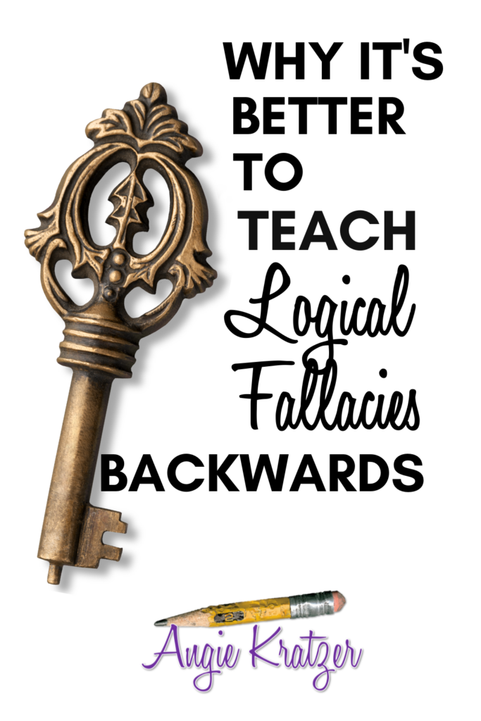 The key to effective argument is logic. Students need to understand local fallacies in order to argue.