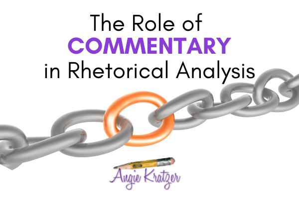 rhetorical analysis commentary